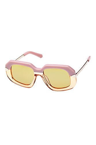 Karen Walker Hollywood Creeper Womens Sunglasses Dusty Pink Crystal Peach Gold