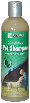 (1) Kenic Oatmeal Pet Shampoo Allergy Itch Relief 17 oz & (1)Pet Spray Allergy Itch Relief - 17 oz Set by Kenic