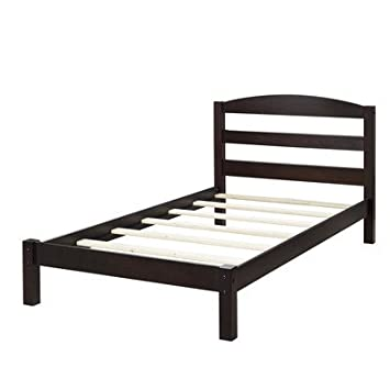 maddox twin bed frame wood espresso