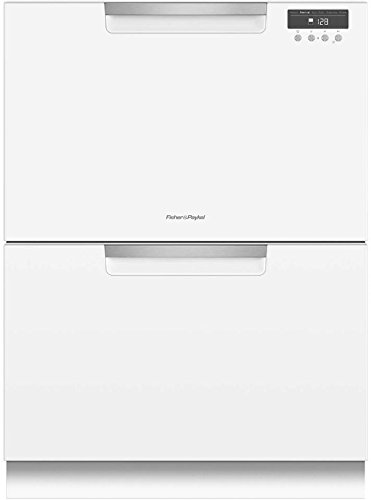 Fisher Paykel DD24DAW9N 24 Inch Drawers Full Console Dishwasher with 6 Wash Cycles, 14 Place Settings, Quick Wash, in White