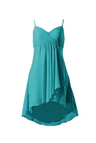 Short low Party Prom cyan 44 BM1732 High Chiffon Beaded Dress Straps DaisyFormals w Dress HABaqxXw