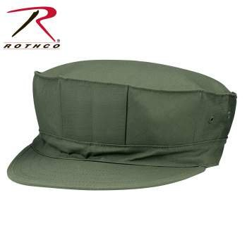 Pro Cotton Cap - Rothco Marine Corps Poly/Cotton Cap with Out Emblem, Olive Drab, Medium