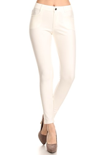 ICONOFLASH Women's Ponte Knit Dress Pants (Ivory, Small) 827NPT001IVYS