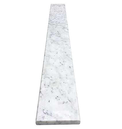 White Carrara Marble Threshold - Size 48 x 6 Inch - Polished