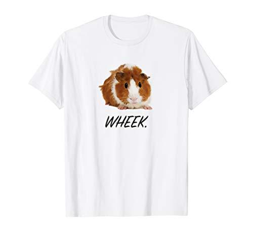 Cute Guinea Pig Wheek T-Shirt - White / Gray