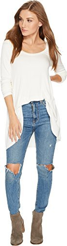 Free People Women's January Tee Ivory Small from Free People