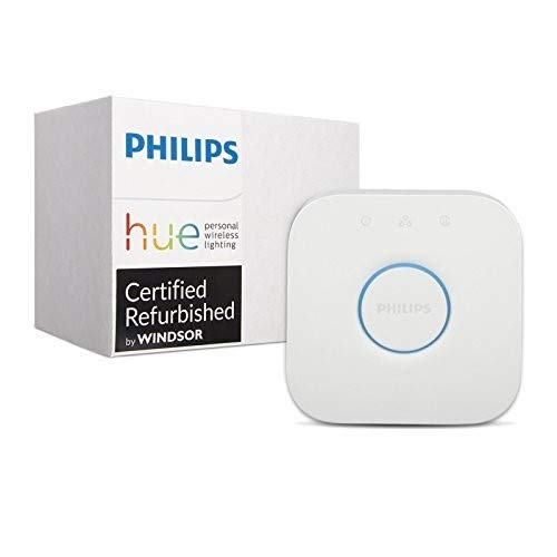 Philips Hue Smart Bridge - 2nd Generation, Latest Model - Compatible with Alexa, Apple HomeKit and Google Assistant (Renewed)