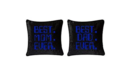 maasha best mom dad quotes velvet cushion covers with quote cushion covers 16 inch x 16