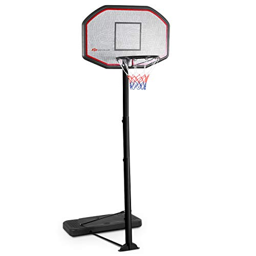 Giantex 10FT Portable Basketball Hoop Adjustable Height 43'' Backboard Indoor/Outdoor