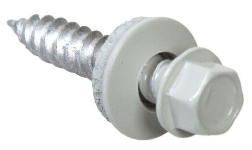Header Fasteners (Hillman 661180 Painted Self Piercing Sheeted,White Painted Header, Polebarn Fastener Roofing Screws, 10 x 1-Inch, 4000-Pack)