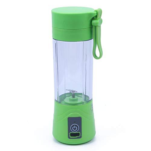 380ml USB Rechargeable Juicer Bottle CUp Juice Citrus Blender Lemon vegetables fruit Milkshake Smoothie Squeezers Reamers Bottle,Green (Best Citrus Juicer India)