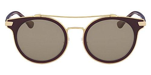 Óculos Ck Ck2149S 609 Vinho Ouro Lente Marrom Flash Tam 50