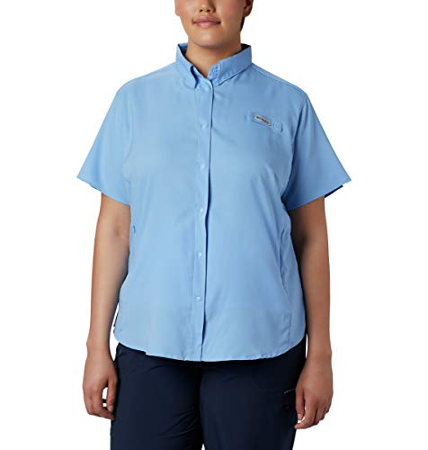 (Columbia Women's Tamiami II Short Sleeve Fishing Shirt (White Cap, Medium))