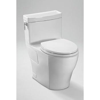 toto aimes onepiece toilet 128gpf with sana gloss cotton