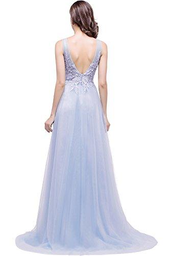 Babyonline® Damen A-Linie Langes Prinzessin Tüll Abendkleid Ballkleid  Brautjungfern Cocktail Party kleid Lavender ... 4ffc9b8e42
