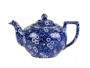 Burleigh Blue Calico Teapot 35oz