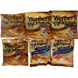 Bundle (6 Items) Werther's Original Sugar Free Variety Pack (Original/Caramel Coffee/Chewy Caramels) Sold By HERO24HOUR Thank You