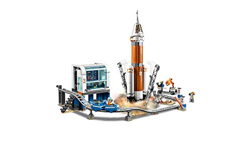 LEGO City Space Deep Space Rocket and Launch Control 60228 Model Rocket Building Kit with Toy Monorail, Control Tower and Astronaut Minifigures, Fun STEM Toy for Creative Play (837 Pieces)