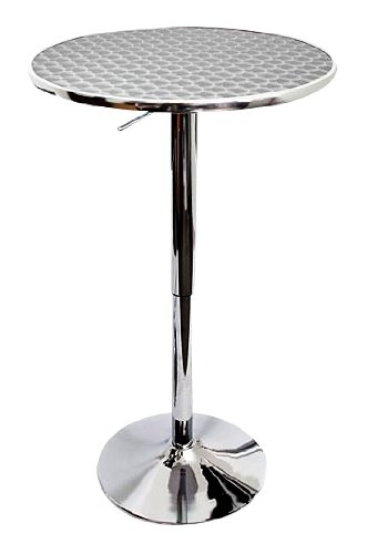 Superieur LumiSource Bistro Hydraulic Bar Table, Chrome