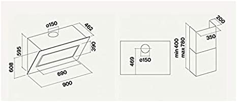 Falmec Quasar Green Tech - Campana extractora de pared (90 cm), color blanco: Amazon.es: Grandes electrodomésticos