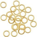 Open Round Link - 20 Jump Rings, 14kt Gold-filled, 4mm Round, 22 Gauge Open Jewelry Connectors Chain Links Sold Per Pkg of 20