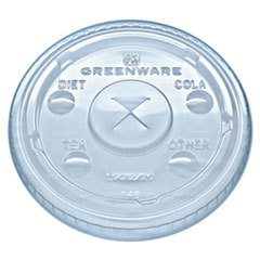 Fabri-Kal LGC1220 Greenware Cold Drink Lids Fits 9 12 20 oz Cups Clear 1000/Carton