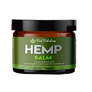 GMO Free Hemp Balm with Pure Ginger and Lemongrass...