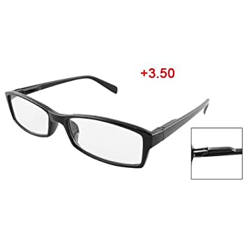 TOOGOO(R) Black Plastic Arms Full Frame Reading Glasses +3.50 for Men