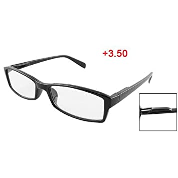 Amazon.com : Black Plastic Arms Full Frame Reading Glasses +3.50 for ...