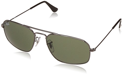 Ray-Ban UV Protected Square Men's Sunglasses – (0RB3382I00455|55|Crystal Green Color)