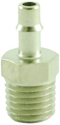 "MettleAir ID 1/16""NPT Male Single Barb Hose/Tubing Fitting Connector, Nickel Plated"