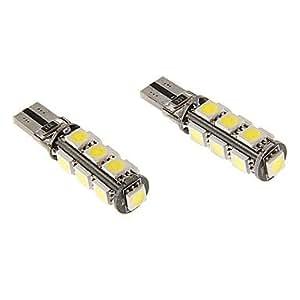 DK T10 6W 13x5060SMD 470LM 5500-6500K Cool White Light LED Bulb for Car (12V)