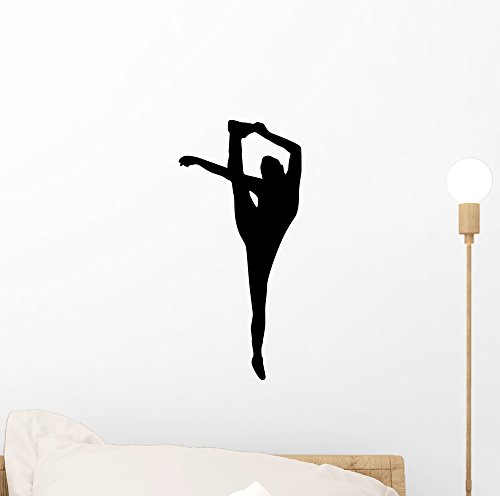 Wallmonkeys Black Flexible Cheerleader Wall Decal Peel and Stick Graphic (12 in H x 6 in W) WM120817