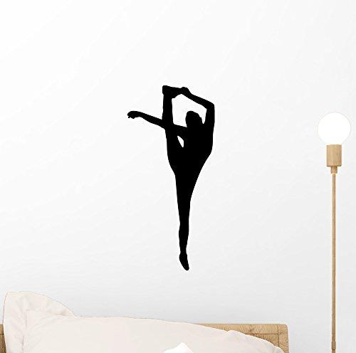 Wallmonkeys Black Flexible Cheerleader Wall Decal Peel and Stick Graphic (12 in H x 6 in W) WM120817 ()