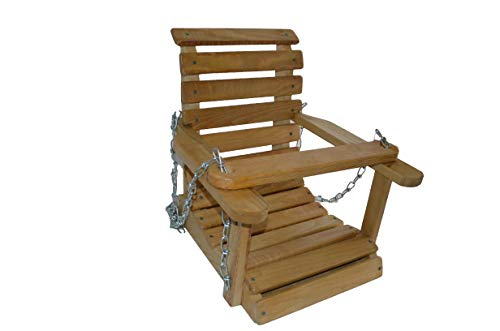 Cheap AMISH WARES Sassafras Solid Wood Child Country Porch Swing. This Great Addition to Your Backyard Will Bring Hours of Fun to Any Child. Made in the USA