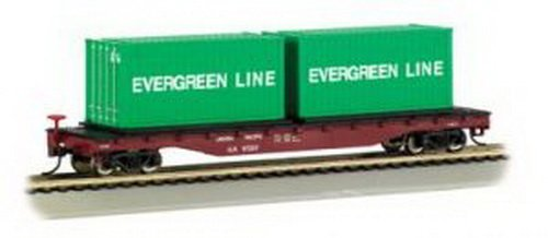 (Bachmann Trains Union Pacific Flat Car with Container Load)