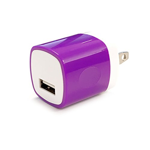 Single Usb Wall Charger (USB Wall Charger, Charger Adapter, FREEDOMTECH 1Amp Single Port Quick Charger Plug Cube for iPhone 7/6S/6S Plus/6 Plus/6/5S/5, Samsung Galaxy S7/S6/S5 Edge, LG, HTC, Huawei, Moto, Kindle and More)
