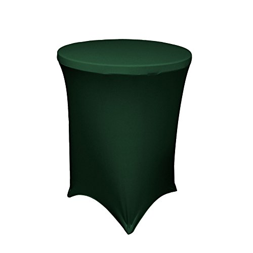 LA Linen Round High Spandex Cover for Cocktail Highboy Table, 32 by 42