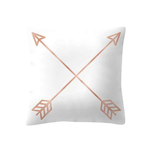 Drfoytg Fashion Cushion Cover Marble Stripe Pillowcase Dot Bohemia Throw Pillow Case Home Decor ()