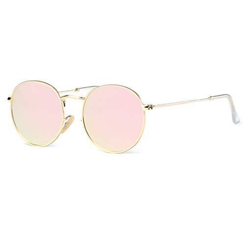 228ffa83343 Kimorn Sunglasses Small Round Metal Frame Oval Candy Colors Unisex Sun  Glasses k0577 K0577~1