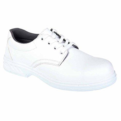 Portwest Steelite Laced Safety Shoe S2, Herren Sicherheitsschuhe, Schwarz, 37 EU (4 UK) weiß