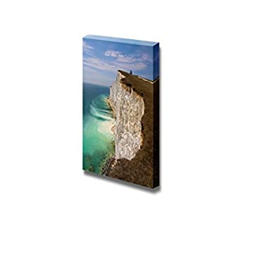 Beautiful Scenery Landscape Cliff Erosion at Seven Sisters Cliffs in East Sussex UK - Canvas Art Wall Art - 24