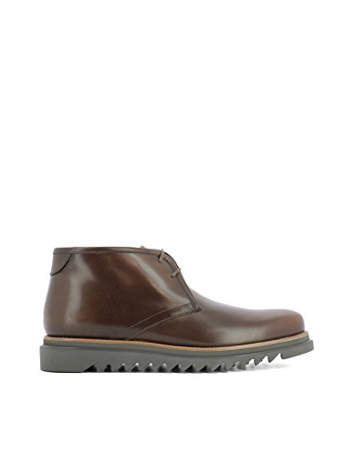SALVATORE FERRAGAMO HOMME 0661228 MARRON CUIR BOTTINES