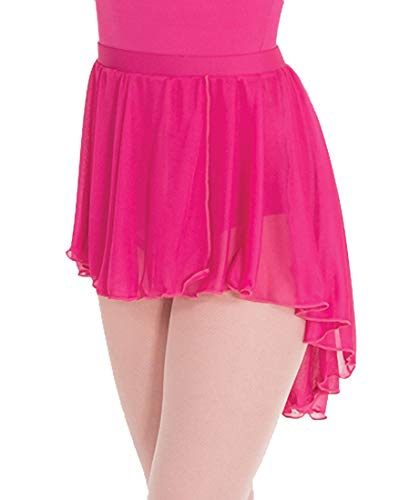 (Body Wrappers Child High-Low Mesh Dance Skirt,BW1108CLBLML,Light Blue,ML)