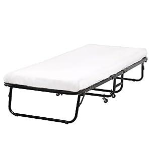 Folding Bed Memory Foam Mattress Roll Away Guest Portable Sleeper Cot Single BestMassage