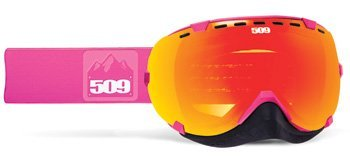 509 Aviator Snowmobile Goggles Pink Fire Mirror Clear Tint Lens by 509