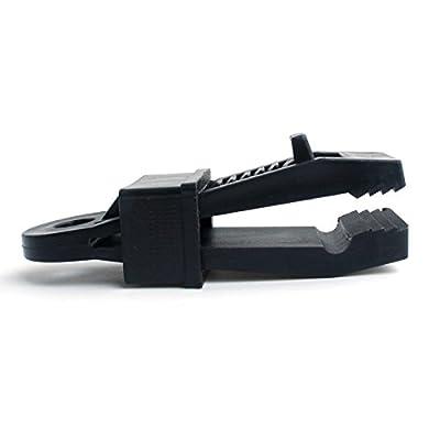 TENGGO Tente Extérieure Auvent Auvent Pare-Brise Clip Plastique Boucle Vent Corde Accessoires De Fixation-Noir