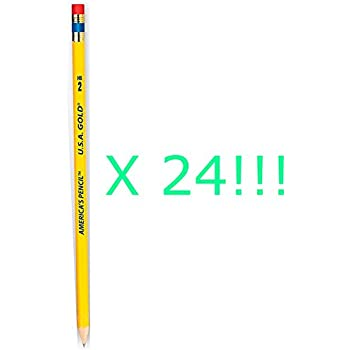 Pack of 24 Made in USA Pencils - Made from Sustained Growth California Cedar!