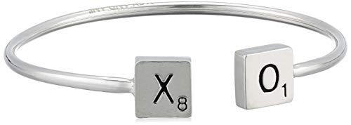 Alex and Ani Women's Scrabble Xo Cuff Bracelet, Sterling Silver, Expandable ()