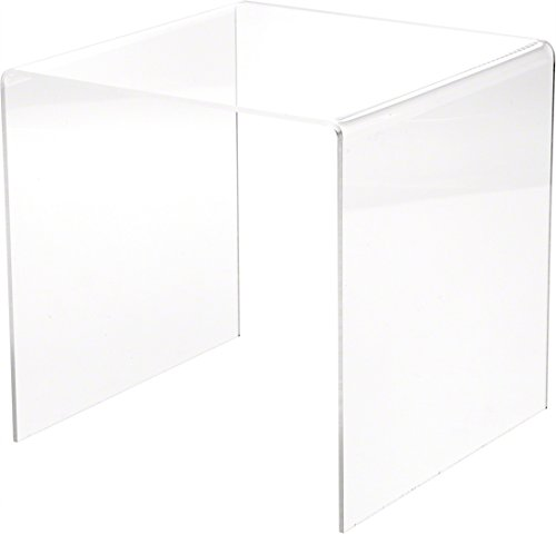 Plymor Clear Acrylic Square Display Riser, 8' H x 8' W x 8' D (1/8'...
